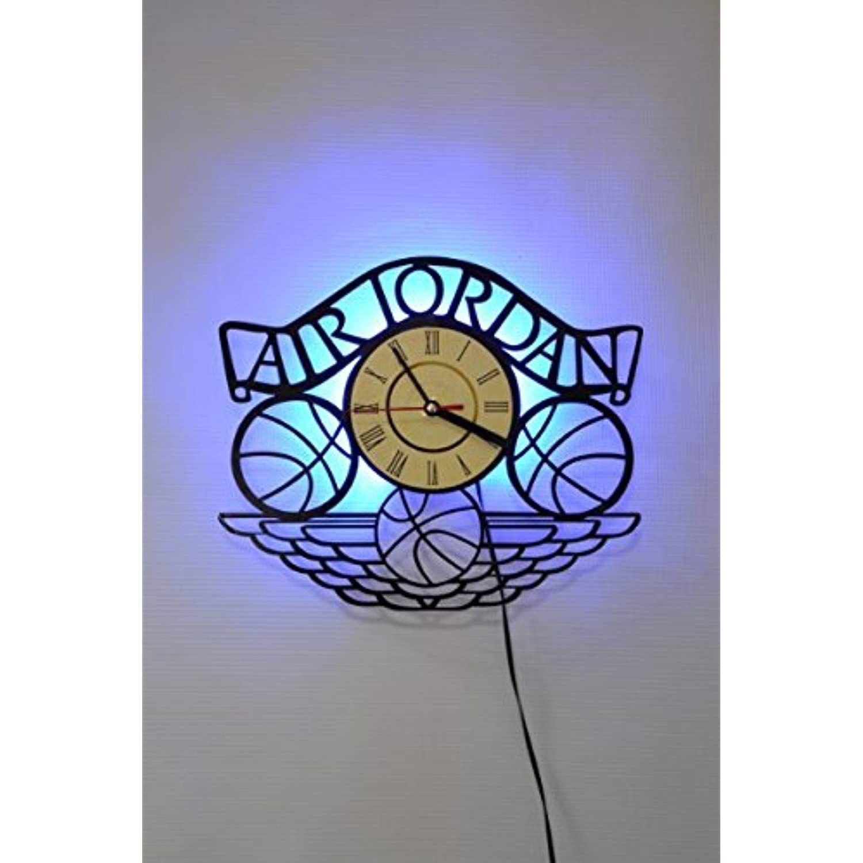 Air Jordan Design Wall Light, Night Light Function, Car Original Home Interior Decor, Wall Lamp ...