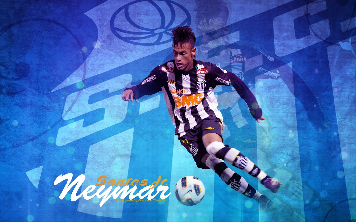 Neymar Santos Desktop Wallpaper