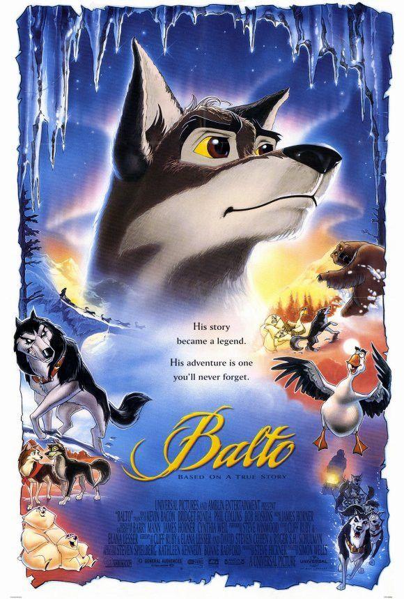 Balto 27x40 Movie Poster 1995 Animated Movies Dog Movies Movie Posters
