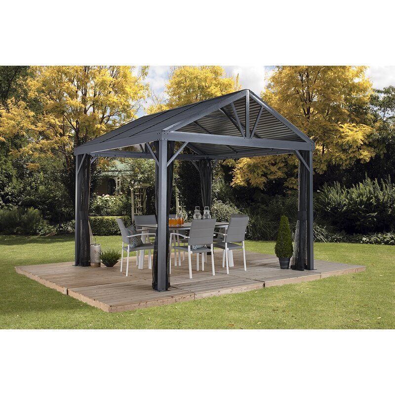 Whitworth Aluminum Patio Gazebo In 2020 Patio Gazebo 10x10 Gazebo Aluminum Patio