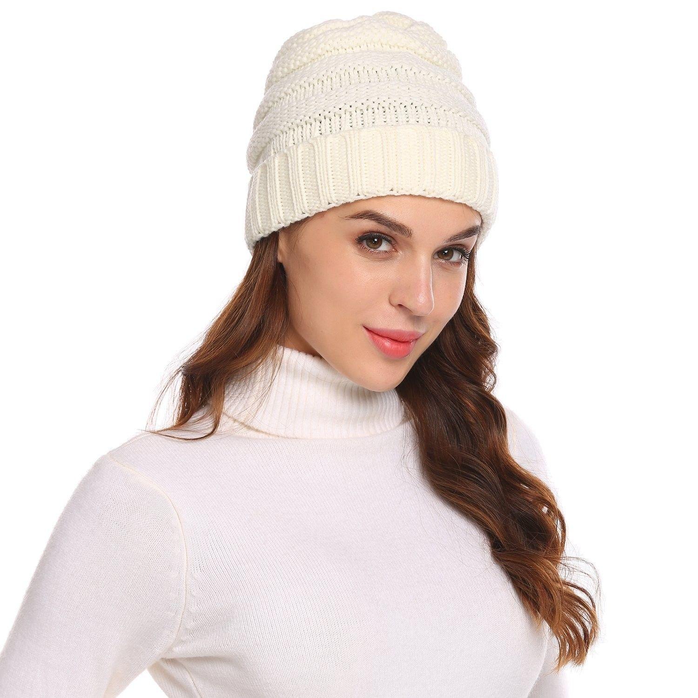 c420d496713 Knit Beanie Headwear - Warm Stretchy Soft Beanie Hats for Men ...