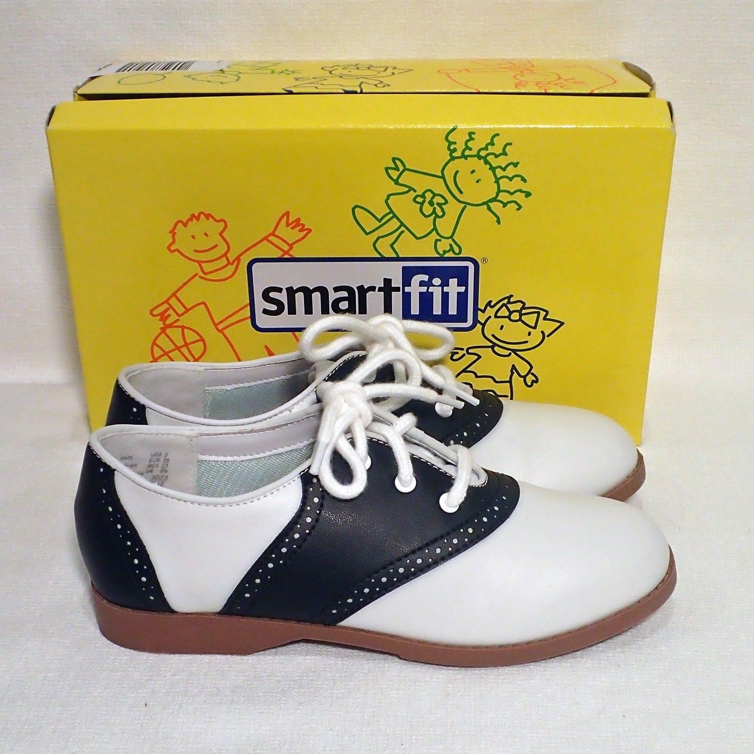 d87ae681a14 Details about GIRLS 50 S STYLE BLACK AND WHITE SADDLE SHOES SIZES 11 ...