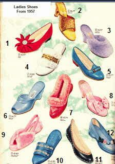 Selection Of Ladies Fashion Shoes From 1957 Vintage Shoes Vintage Outfits 1950s Shoes