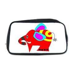 #Colourful# Elephant #Toiletry #Bag > #Myheaven7