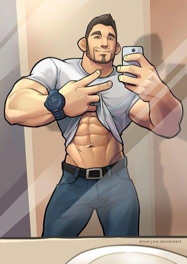 Gay male art hardon