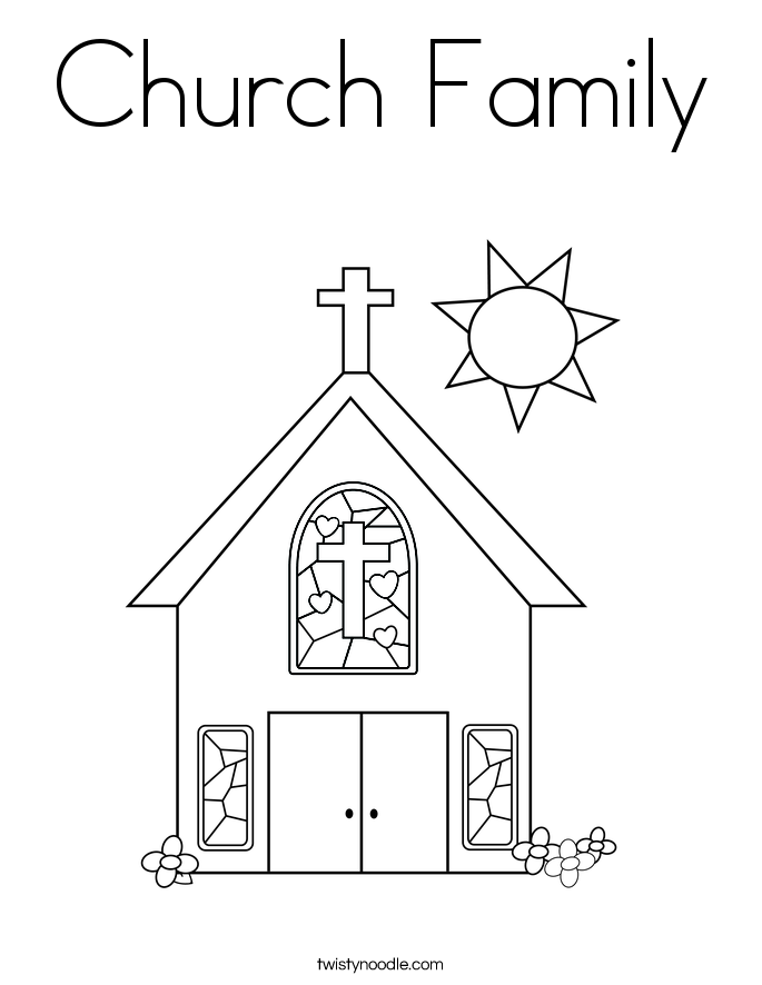 Church Family Coloring Page Sunday School Coloring Pages Sunday School Coloring Sheets School Coloring Pages