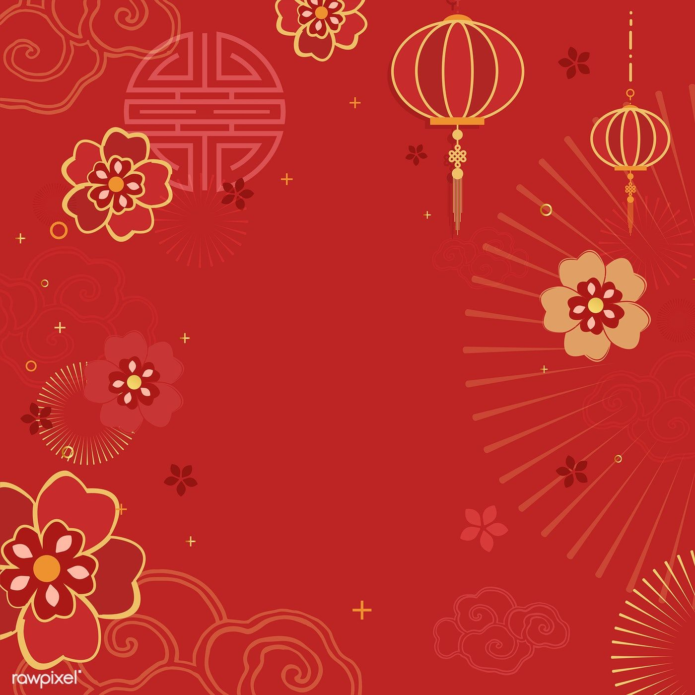 Download Premium Vector Of Chinese New Year 2019 Greeting Background 555257 Chinese New Year Background Chinese New Year Design New Year Background Images