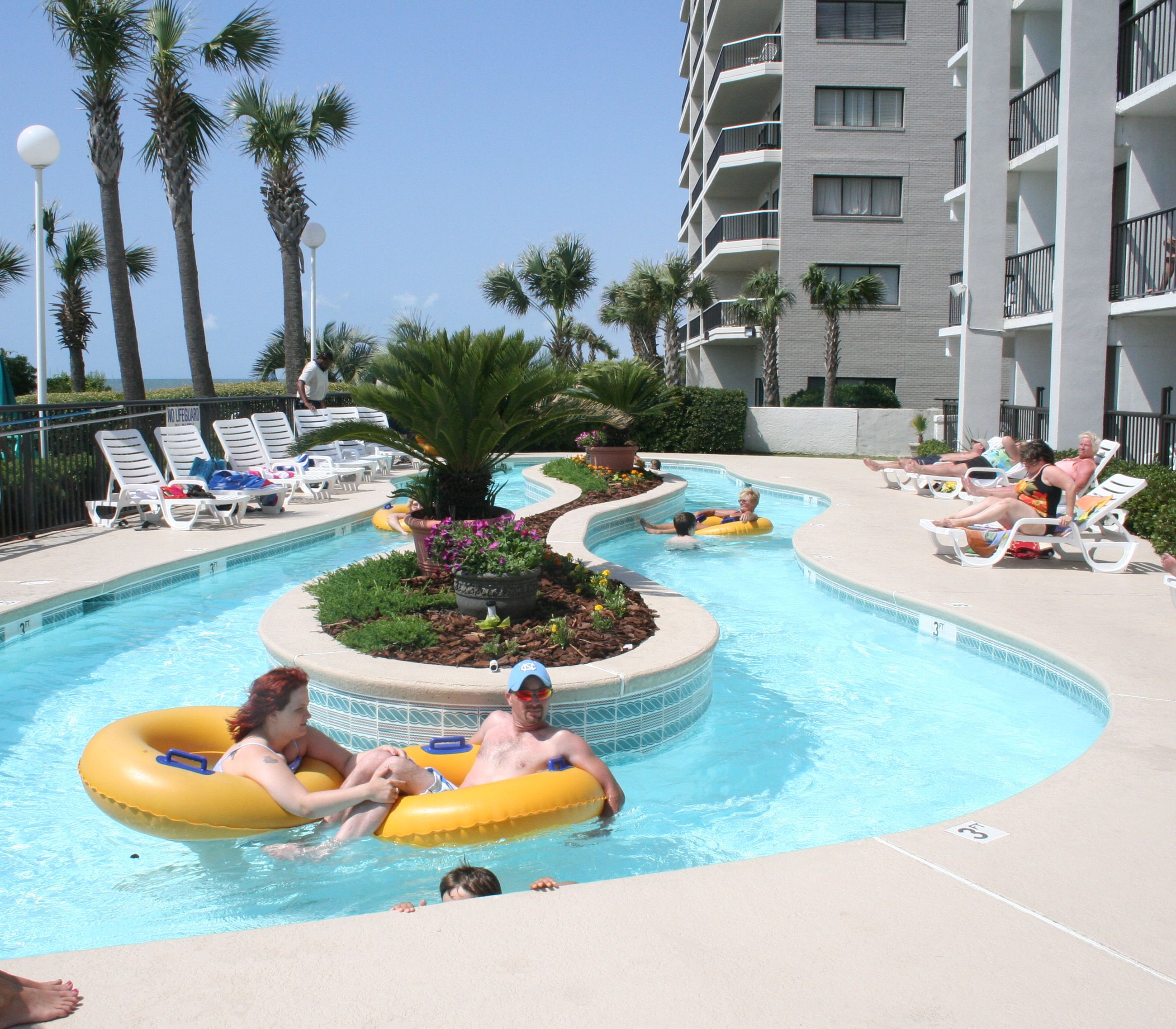 Enjoy A Float Around The Lazy River At Grande Shores The Best Oceanfront Myrtle Beach Hotel For Your Next Vacati Myrtle Beach Hotels Ocean Resort Myrtle Beach