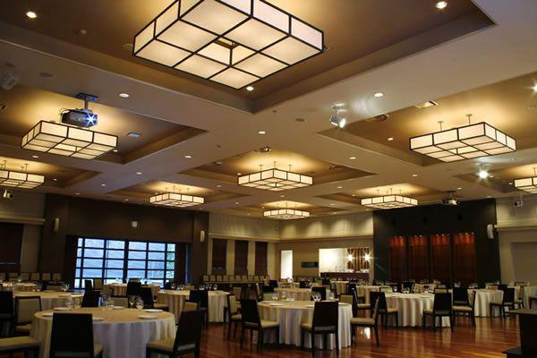 Katsutaya Wedding Hall Case Studies Projector Panasonic Global Banquet Hall False Ceiling Design Ceiling Design