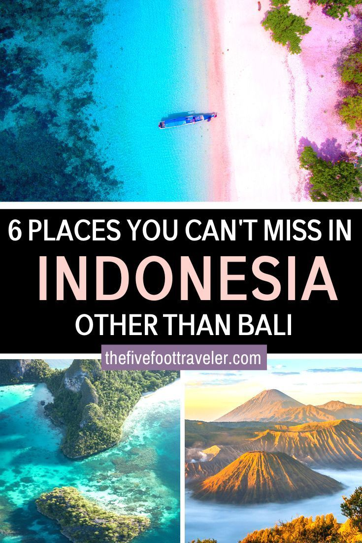 6 Places You Can't Miss in Indonesia (other than Bali)  There are so many places to visit in Indonesia outside of Bali. Explore the remaining colonial architecture, the gentle lakes, the food, the palaces, the temples, and meet the nicest people. #indonesia