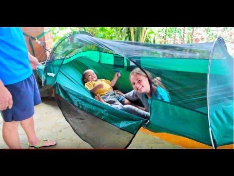 (1) Hammock C&ing--How to Set up Lawson Hammock Tent - YouTube | Setting up a tent | Pinterest | Hammock tent Tents and C&ing guide & 1) Hammock Camping--How to Set up Lawson Hammock Tent - YouTube ...