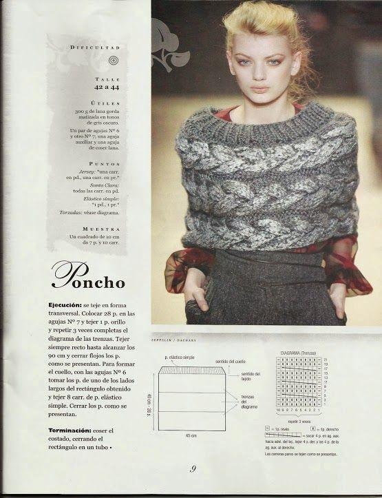 78 Poncho o Chal a Dos Agujas o Knitting | CROCHET | Pinterest | Dos ...