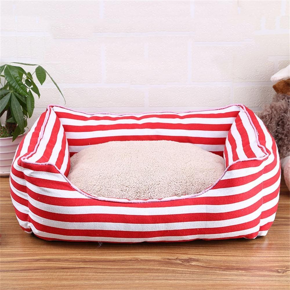 Alus Four Seasons General Washable Pet Bed Dog Kennel Cat House Pet Supplies Red Click Image For More Details This Is An Affiliate Link An Anjing Kucing