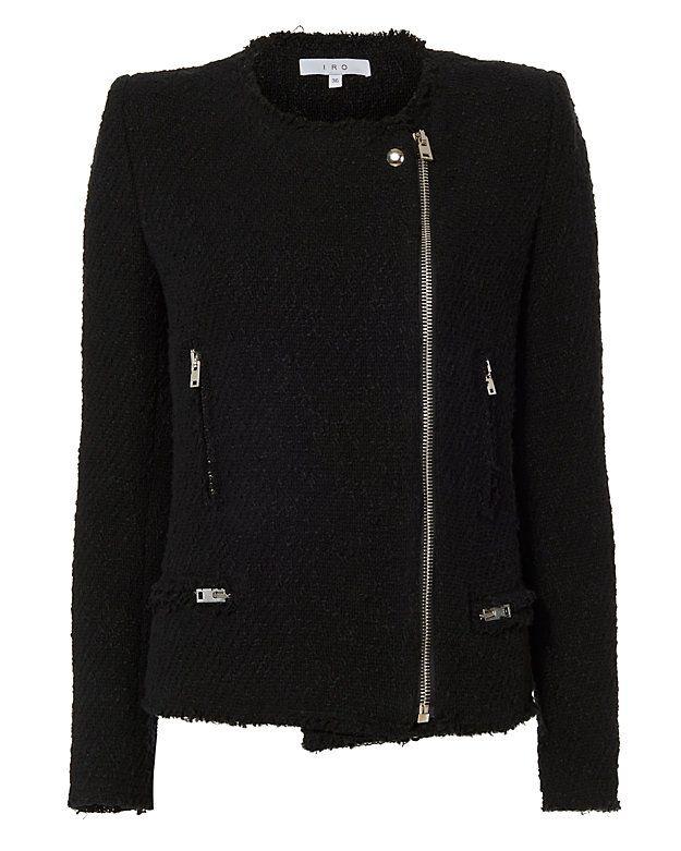 IRO IRO Lola Knit Jacket: Off-center front zip closure. Front zip pockets