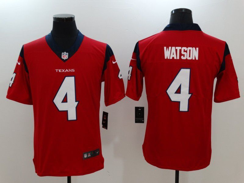 6acbd4693 Men Houston Texans 4 Watson Red Nike Vapor Untouchable Limited NFL Jersey