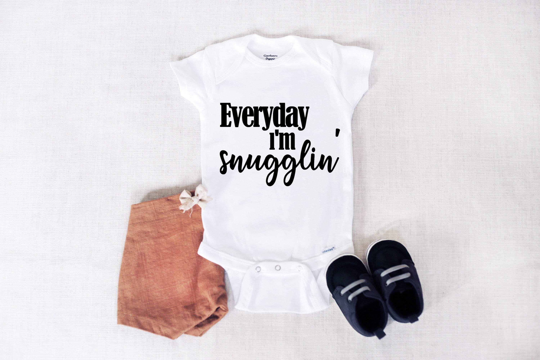 Snugglin' Gerber Onesie® Brand Bodysuit - White 6-9 Month / Orange