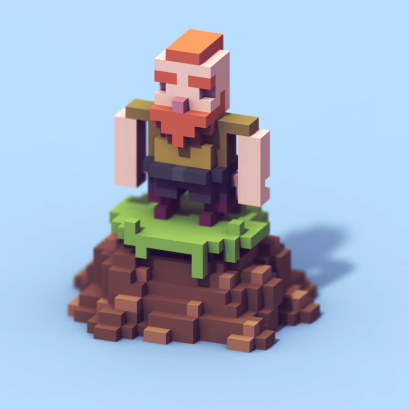 Voxel character for TK Game Jam You can play here https
