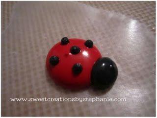 Royal Icing Ladybugs