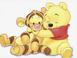 Winnie the Pooh and Tigger by akiraken