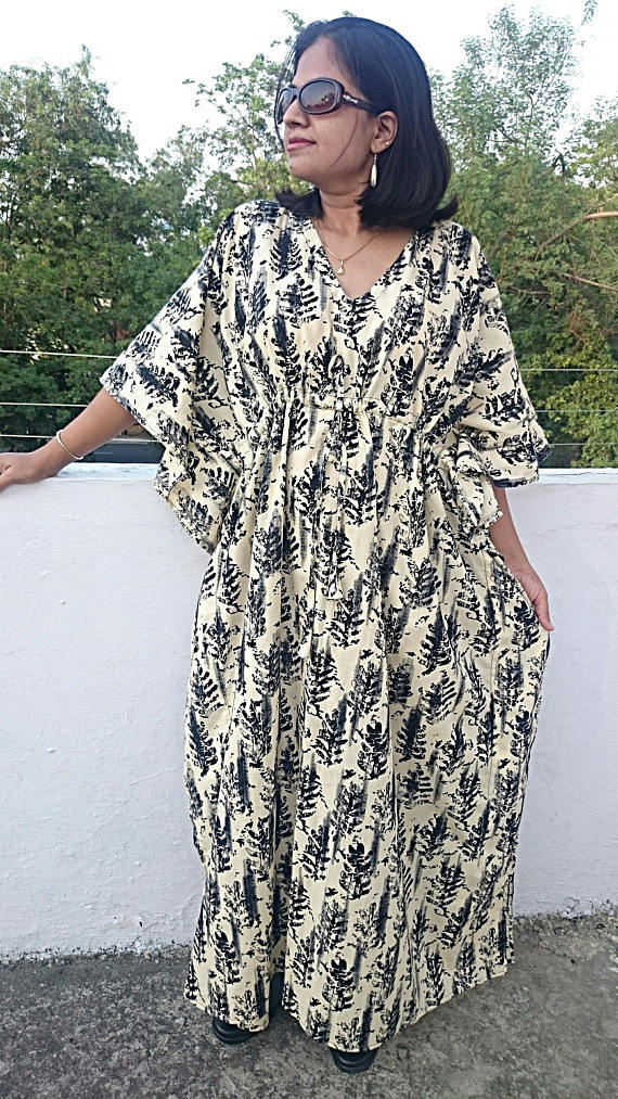 d392d38bd34 Kaftan Maxi Dress Beach Cover Up Caftan Oversized Dress Womens clothing  Maternity Robe Plus size Clo