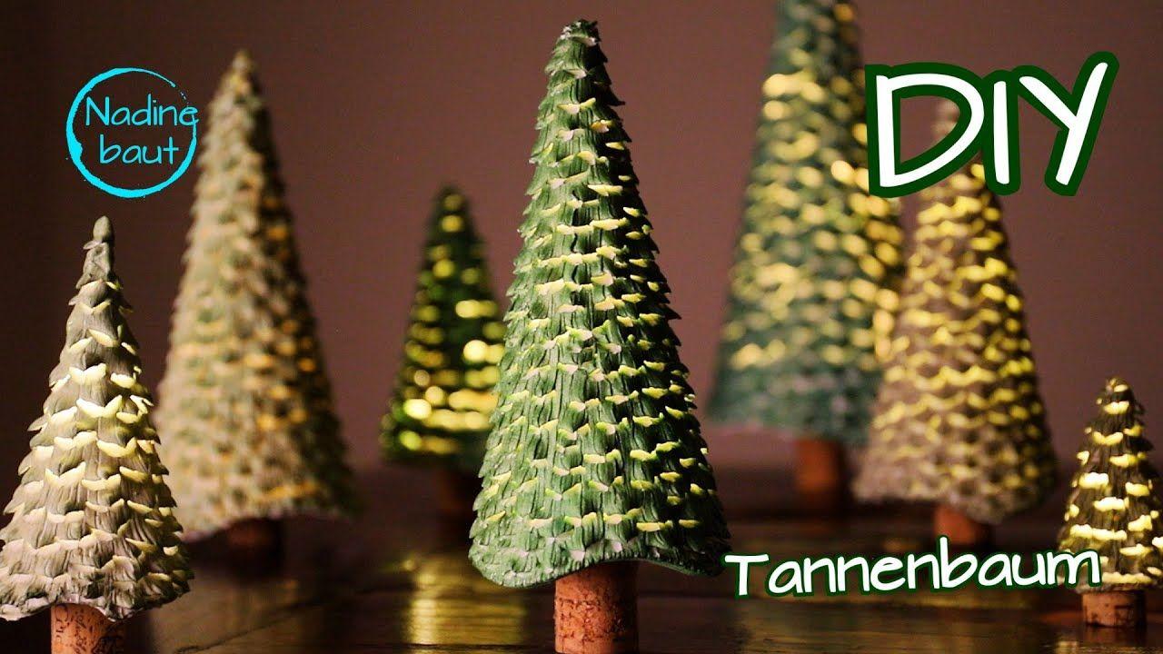 weihnachtsdeko selber machen  tannenbaum basteln  diy