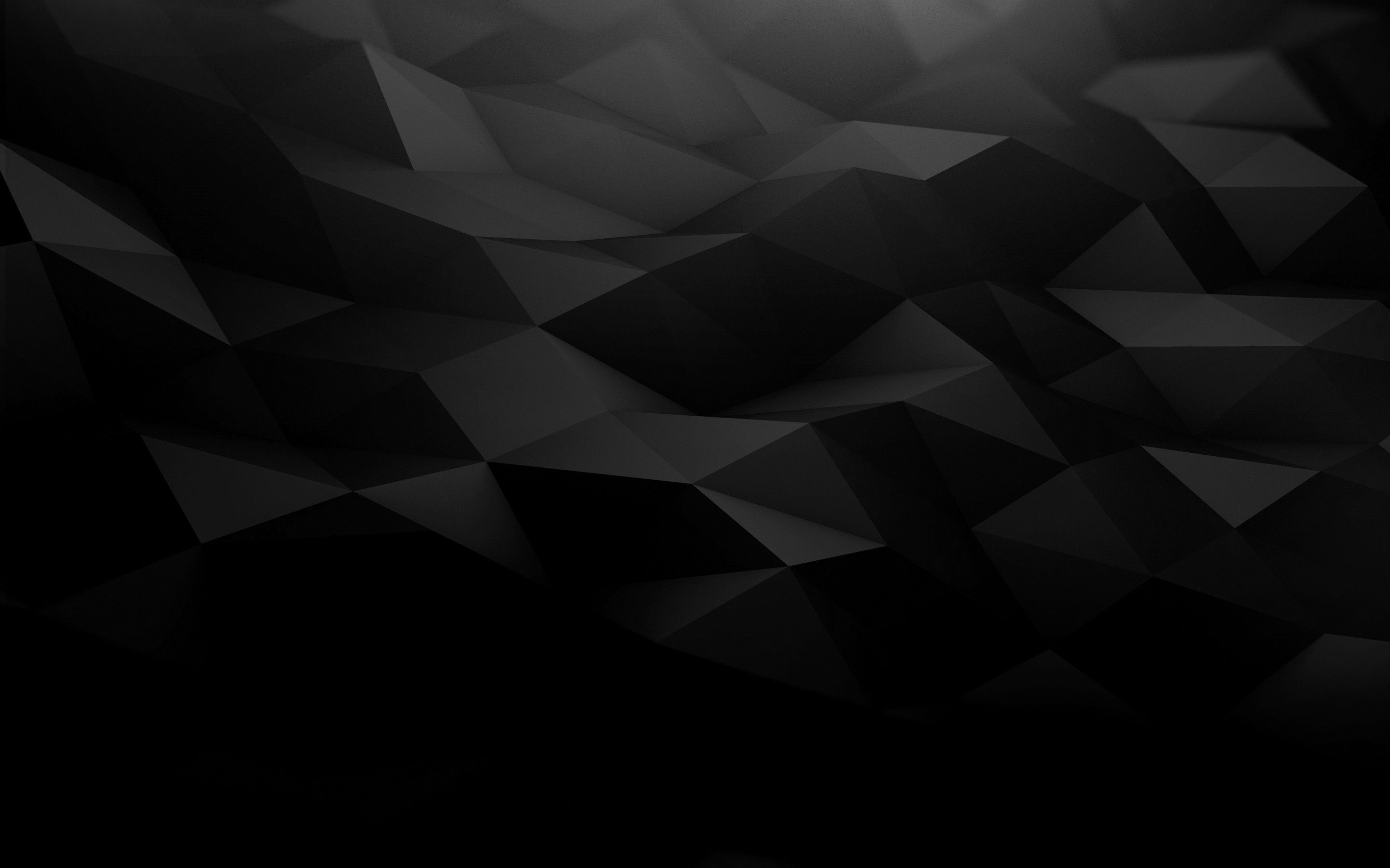 Black Geometry Triangles Wallpapers Polygon Art Abstract