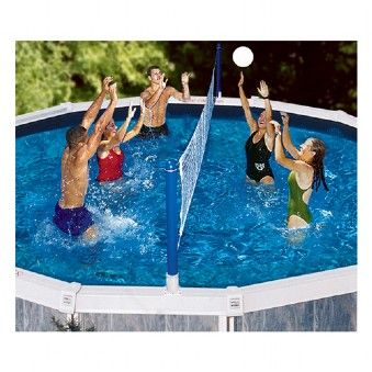 Introducing Swimline Above Ground Volley Ball Set A Pool