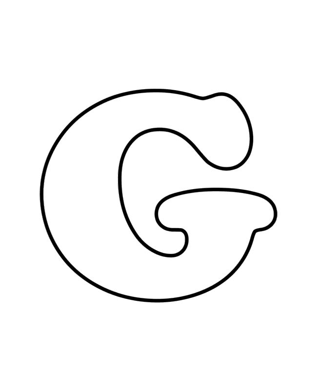Alphabet Letter G Coloring Pages