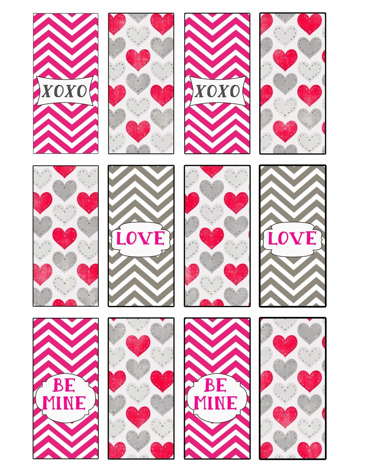 desert peach design valentines mini candy bar wrappers free