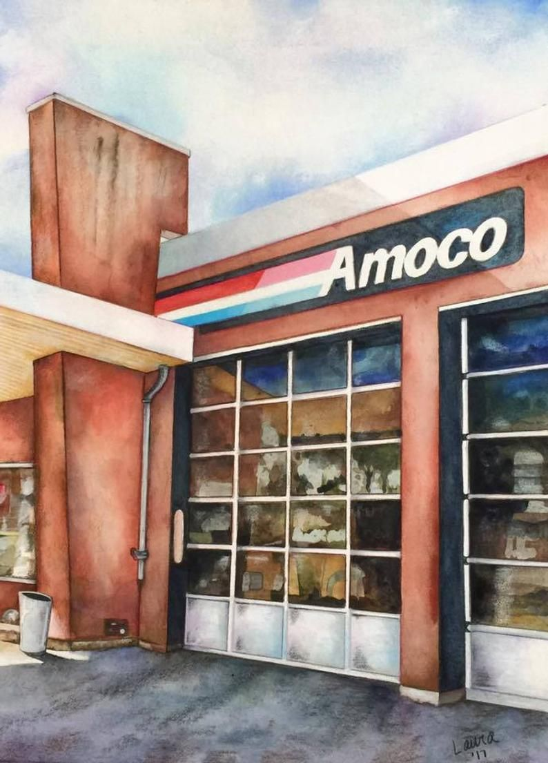 South's Amoco Etsy Great memories, Gas station