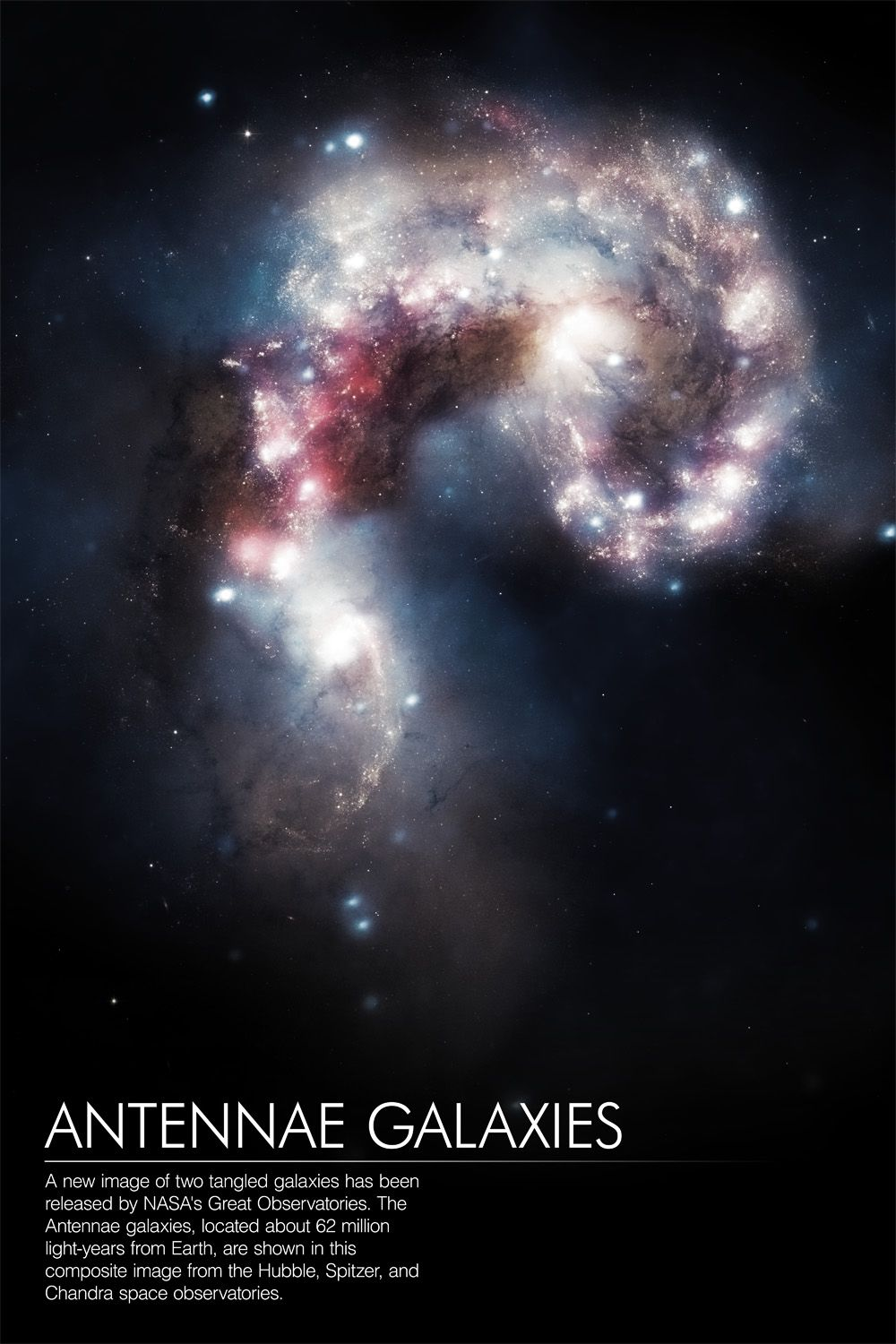 Antennae Galaxies by spacedriver. Space observatory