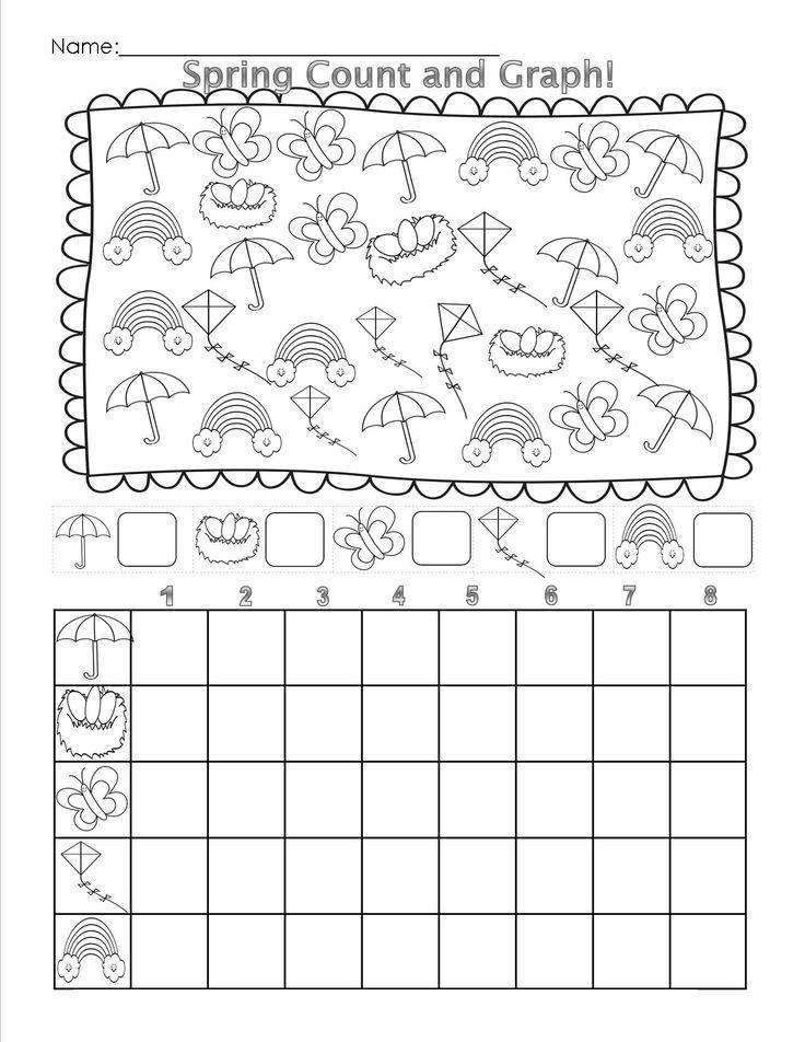 Spring Graph Worksheet Crafts And Worksheets For Preschool Toddler And Ki Kindergarten Spring Math Worksheets Graphing Kindergarten Spring Math Worksheets