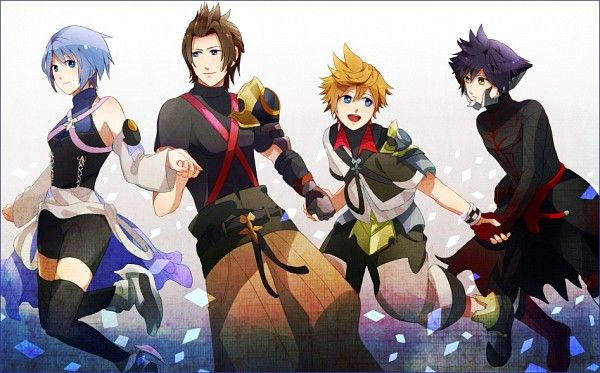 Tags: Anime, Kingdom Hearts, Aqua (Kingdom Hearts), Kingdom Hearts: Birth by Sleep, Terra, Ventus, Vanitas