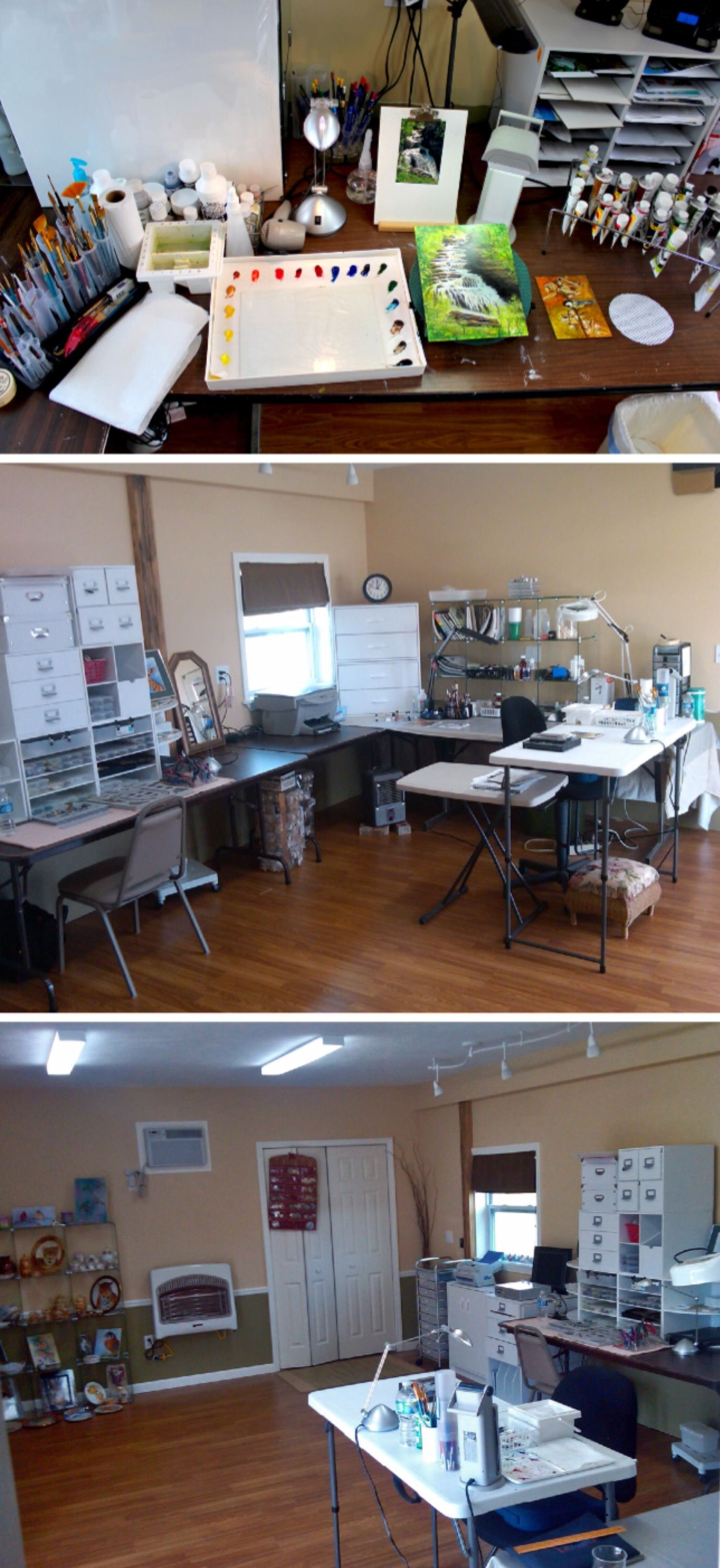 Organizing Your Palette Work Space And Art Supplies