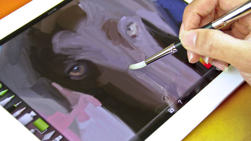 Paintbrush that works on a iPad.