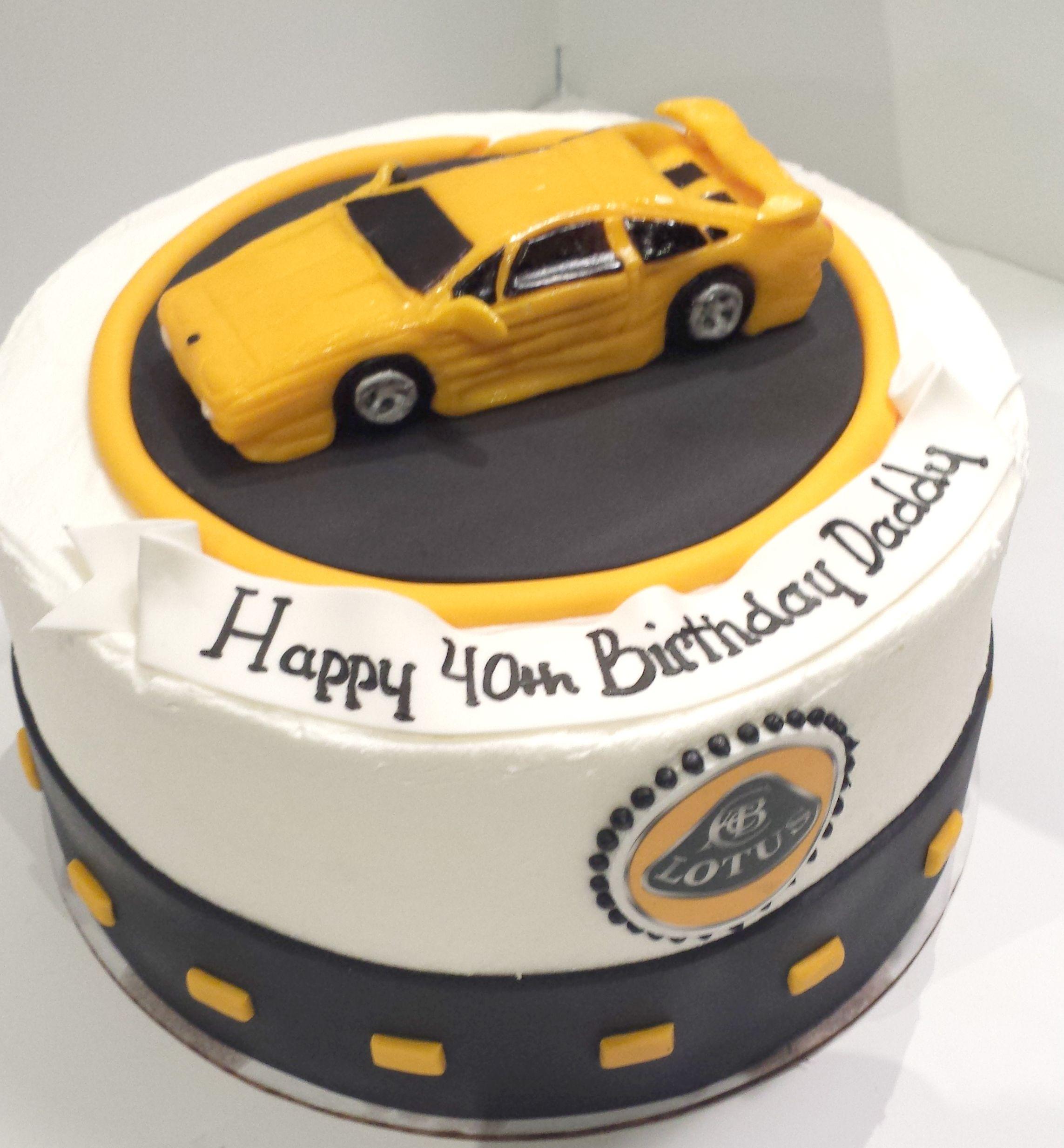 Lotus Car Birthday Cake Cakes Pinterest Birthday cakes and Cake