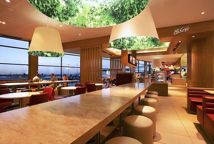 Interior Design McDonalds Sydney Airport Airside