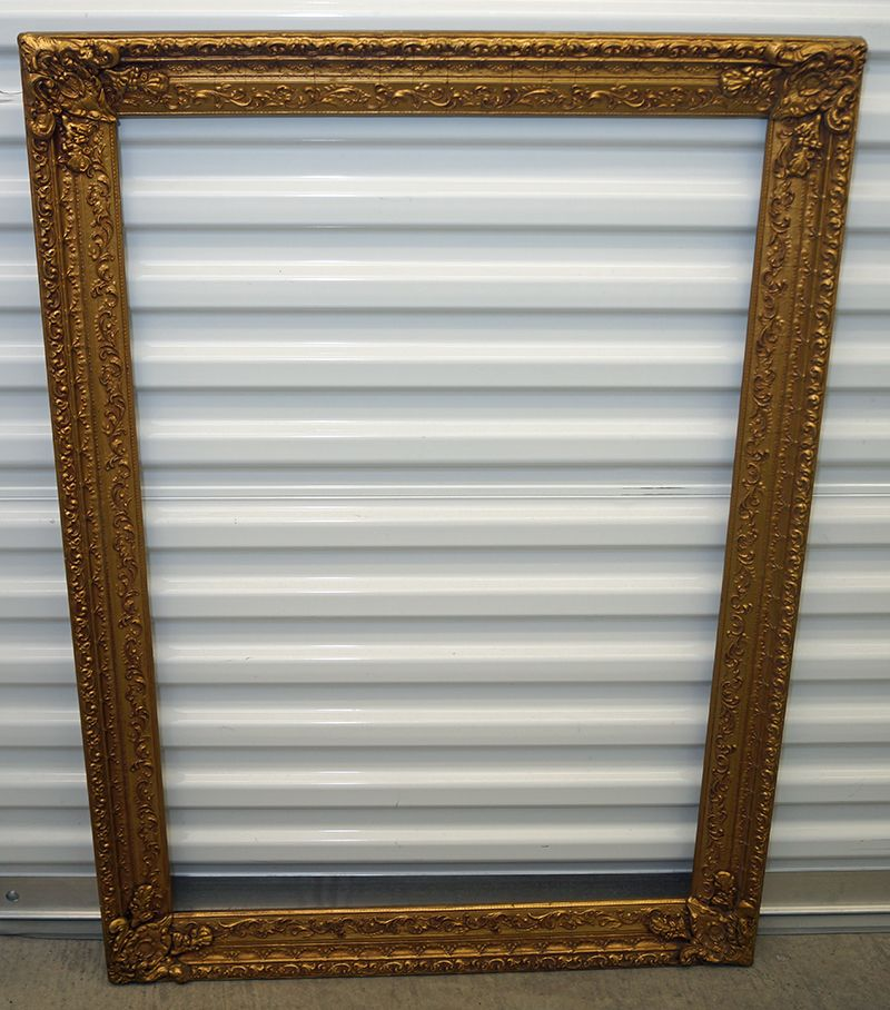 Antique Wood Frame - Ornate with Gold Paint - http ...