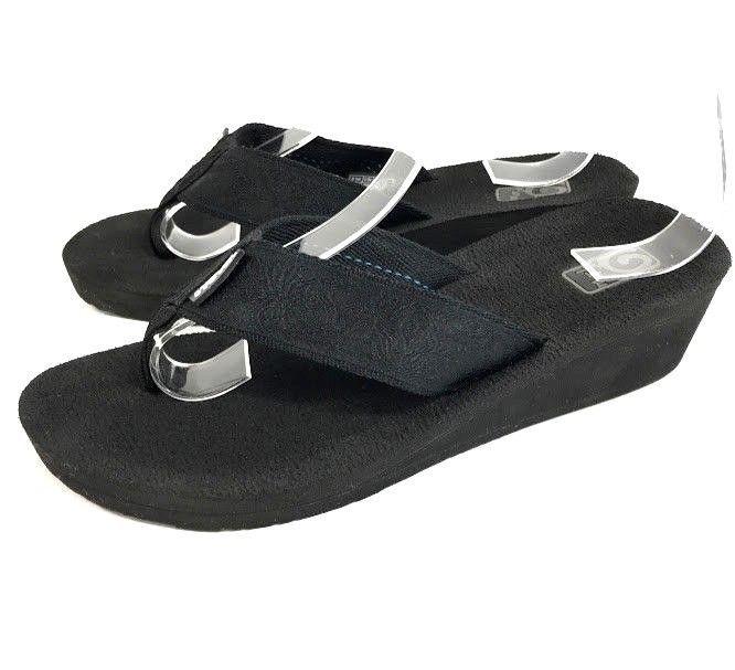 dede52cee Flopstore Malaysia · Womens Teva Sandals. Teva Mush Mandalyn Womens Sandals  Flip Flops Black Wedge Size 7 EU 38 All Black  Teva  FlipFlops  Casual