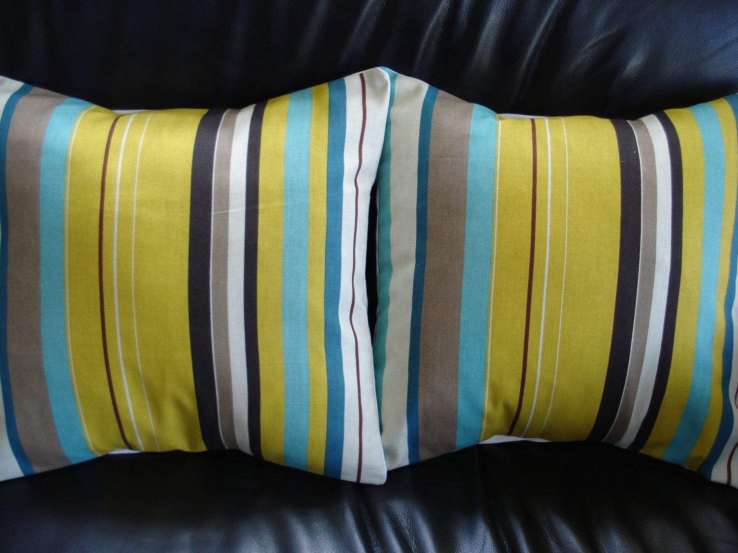 Decorative pillows with blue brown and yellow - Throw Pillow Covers Mustard Yellow Turquoise Blue Brown