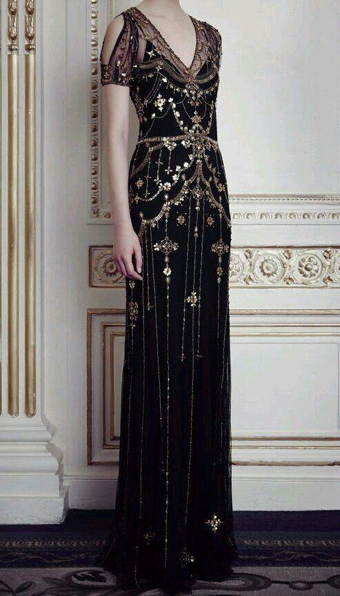 9df6b4cef3d Edwardian  1920s evening gown