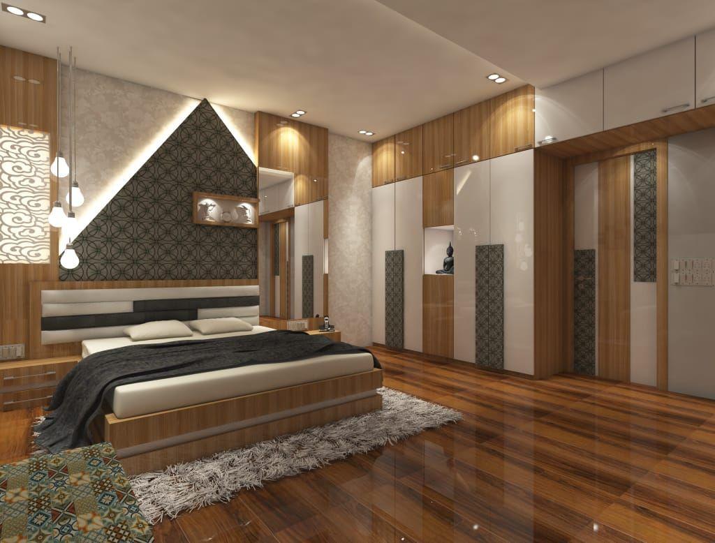 2bhk Flat Interior Merlin Residency Rajarhat Kolkata Moder