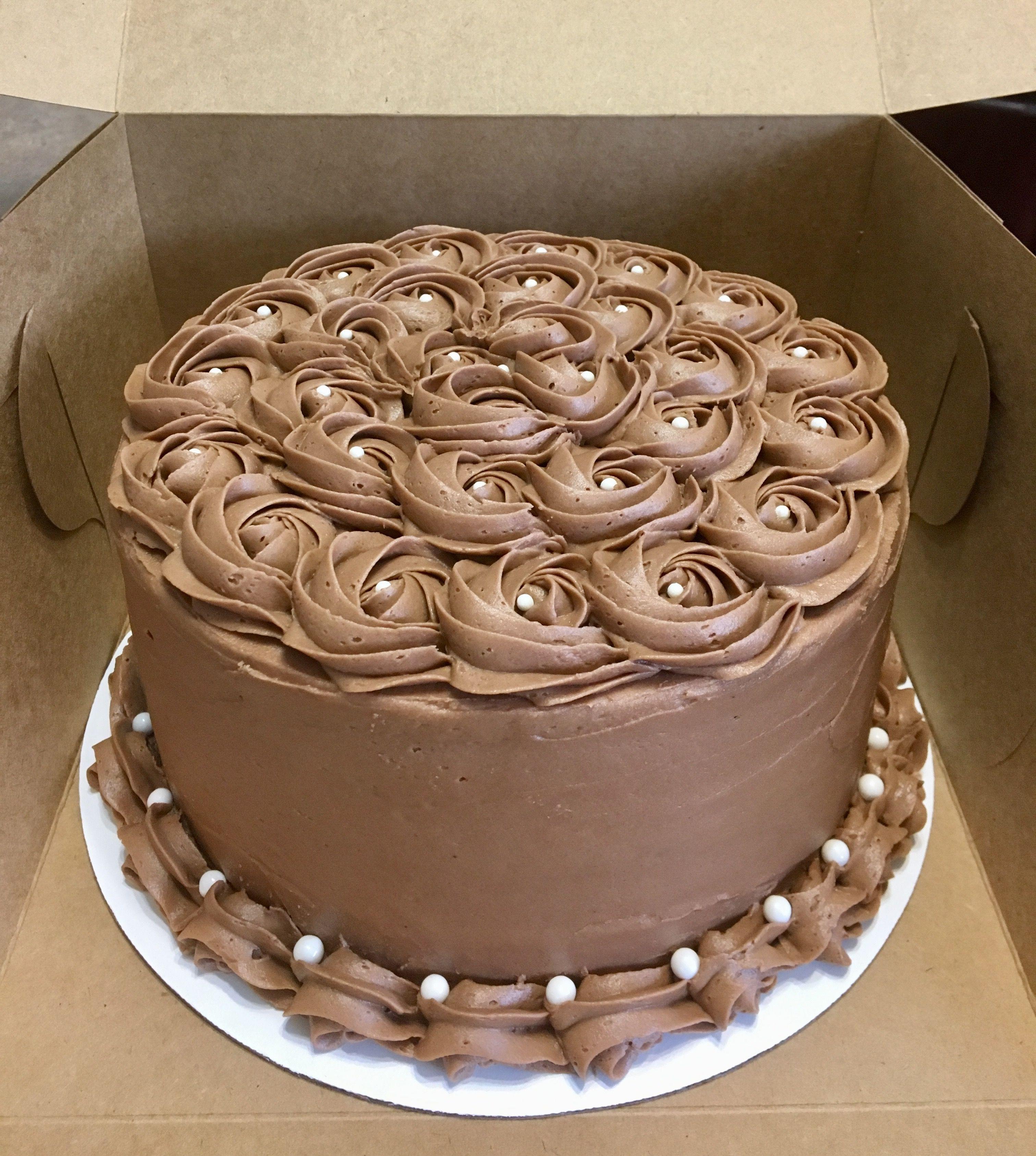 Chocolate Rosette Cake 3 Layer 8 Round Chocolate Cake With