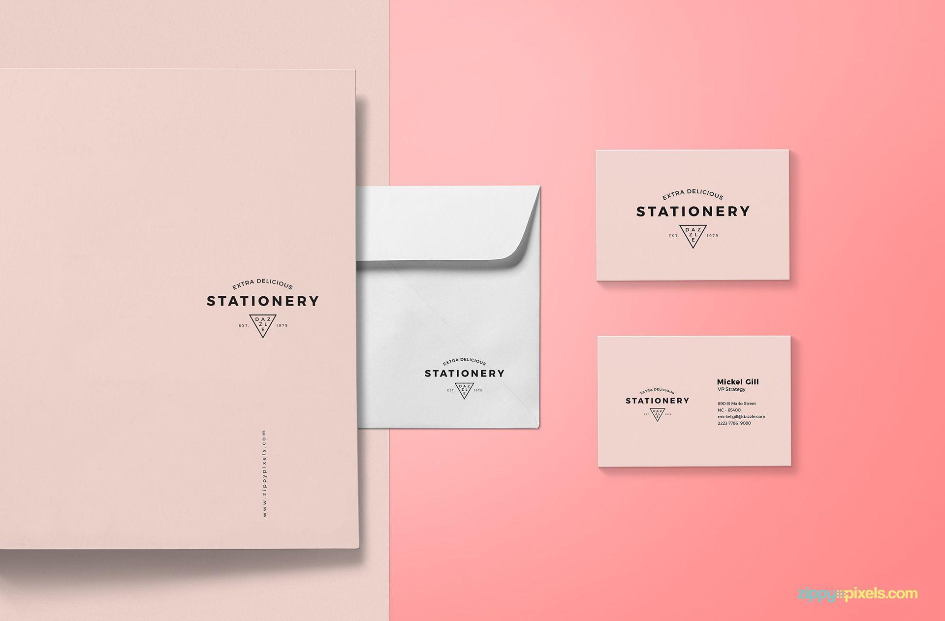 Free Brand Identity Mockup Mockup Papelaria Design De Artigos De Papelaria Papelaria