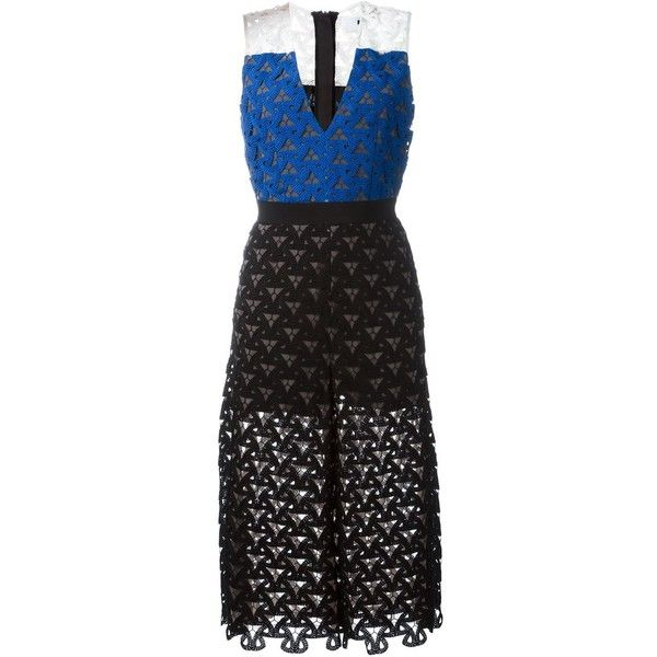 MSGM Block Colour Knit Dress (€650) ❤ liked on Polyvore featuring dresses, black, knit dress, colorblock dress, colorblocked dress, colorblock knit dress and block print dress