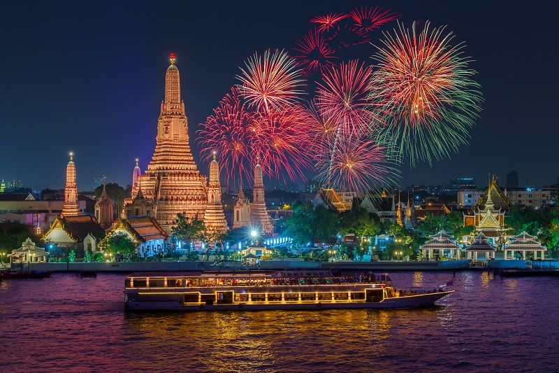 Bangkok Thailand Happy New Year 2019 New Year Celebration New Year Wallpaper