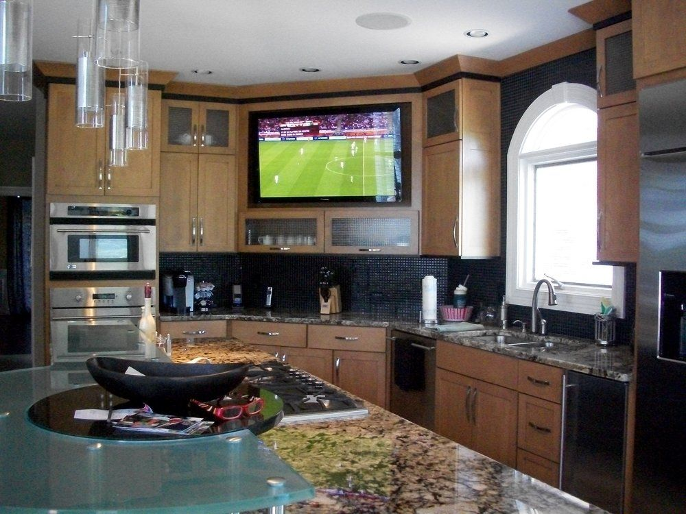 Large Built In Tv Kitchen Yelp