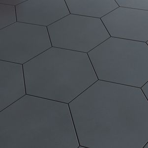 carrelage hexagonal noir cuisine pinterest carrelage hexagonal carrelage et sdb. Black Bedroom Furniture Sets. Home Design Ideas