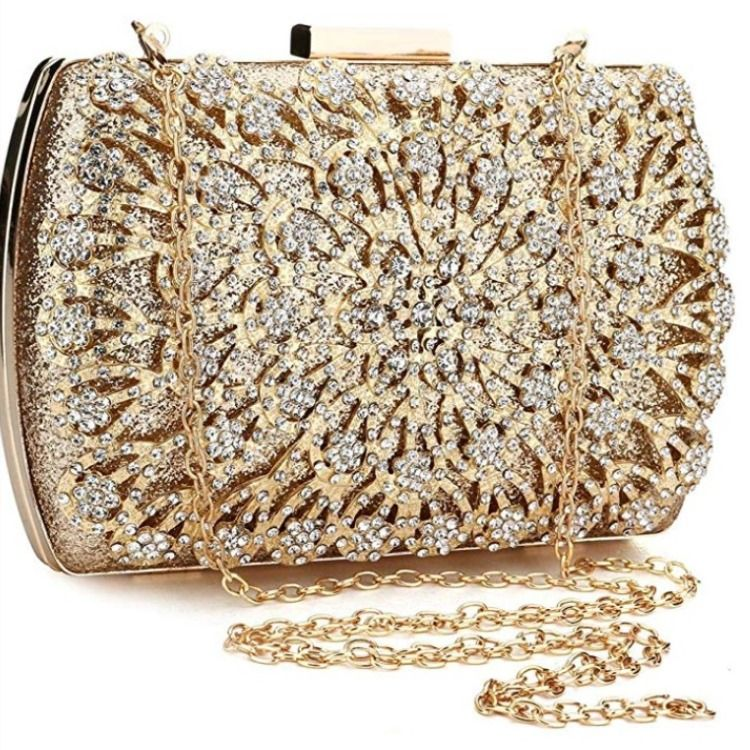 New Women/'s Beaded Clutch Bag Ladies Style Evening Prom Party Wedding Bag Purse