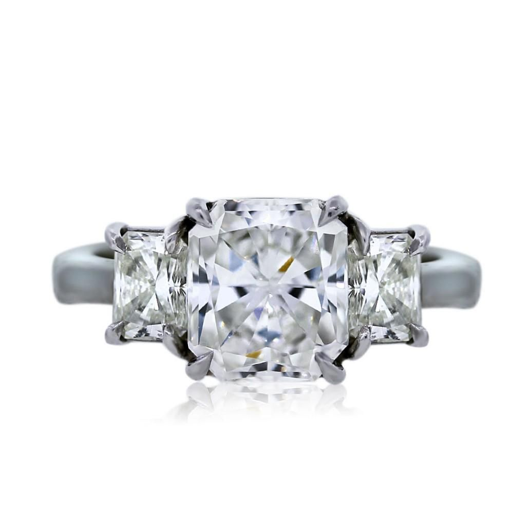 Engagement ring eye candy radiant cut engagement rings radiant